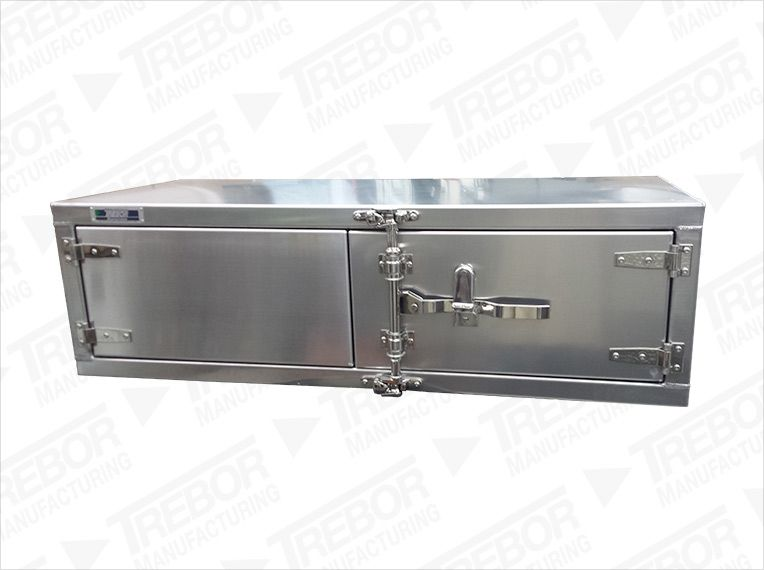 Underbody tool box plain finish T handle