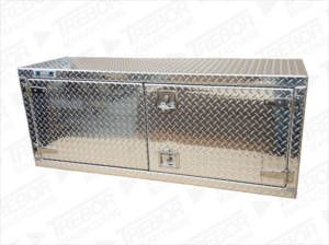 Underbody 2 door tool box checkcker plate finish