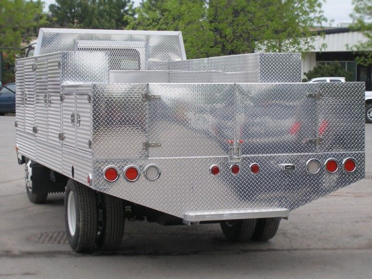 flat bed with tool boxes