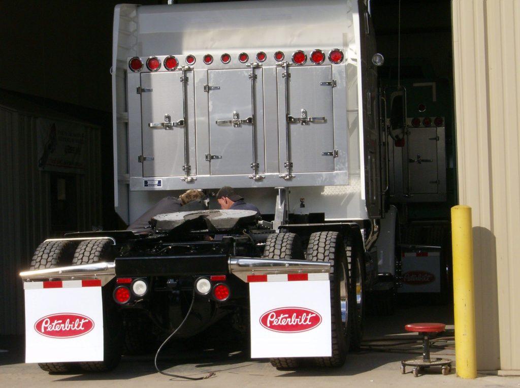 Custome headache rack on tractor