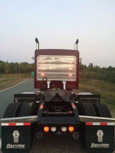 Headache rack rear view