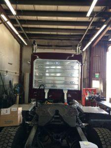 Headache rack rear view tractor
