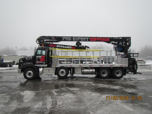 flatbed truck left side view